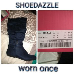Navy boots size 10